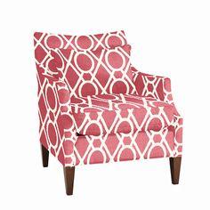 Courtland Club Chair - raspberry
