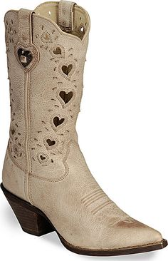 Durango Boots Durango Crush Taupe Heart Cut-out Cowgirl Boots - Pointed Toe Cowgirl Boots, Western Boots, Western Wear, Country Boots, Western Cowboy, Mode Country, Durango Boots, Cutout Boots, Over Boots
