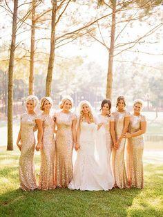 62f20de5 Golden Plain Sequin Bridesmaid V-Back Neck Party Maxi Dress - Maxi Dresses  - Dresses