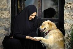 An Orthodox nun with her doggy!