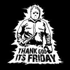 Friday the13th  tshirt horror movie t shirt cool tshirt halloween shirt tgif Tee Shirt (also available on crewneck sweatshirts and hoodies)