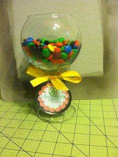 Candle stick candy holder