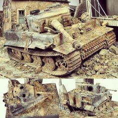 Sd.Kfz.181 Pz.Kpfw.VI Ausf.E Tiger I Late. Modeler Glenn Bartolotti #scalemodelkit #plasticmodel #plastimodelismo #hobby #diorama