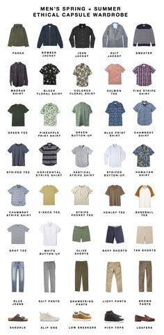 CAPSULE CLOSET — Men's Spring-Summer Ethical Capsule Wardrobe