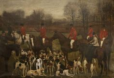 The Burnley Meet, 1875 by Charles Henry Lutyens