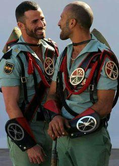 Mature gays in uniform