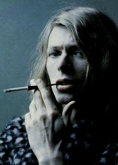 David Bowie; hair, face, shadow