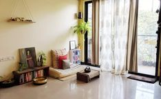 """""""Jayati and Manali share their home tour as the science home décor - A study room decorated with book shelf, green plants, frames and vintages Indian Room Decor, Ethnic Home Decor, Asian Home Decor, Indian Bedroom, Sala Indiana, Living Room Decor, Bedroom Decor, Living Area, Dining Room"""