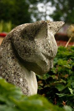Cat in the Garden - Stone Statue