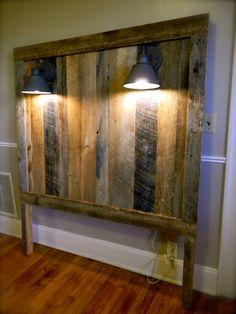Barnwood Headboard W/lighting (gage Collection)