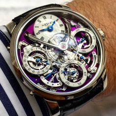 Have a look at this exclusive watch by Swiss watch brand MB&. - Have a look at this exclusive watch by Swiss watch brand MB&F Dream Watches, Fine Watches, Men's Watches, Cool Watches, Fashion Watches, Ladies Watches, Jewelry Watches, Amazing Watches, Beautiful Watches
