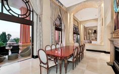 This incredible mega mansion is located in Sandhurst, Sandton, Gauteng, Johannesburg, South Africa. Dining Area, Kitchen Dining, Mega Mansions, Rich Home, South Africa, Kitchens, The Incredibles, Homes, Furniture