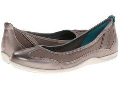 ECCO - Bluma Summer Ballerina (Moon Rock) Women's Shoes