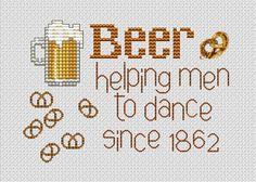 Beer glass cross stitch