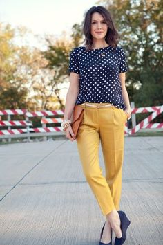 42 Popular Mustard Pants Outfit Ideas For Beautiful Women Like You