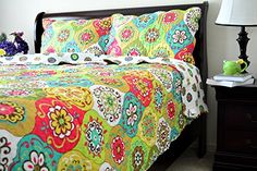 Tache 3 Piece A Leap into Summer Bedspread, California King >>> You can…