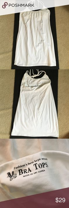 Victoria's Secret white halter dress New without tags, Victoria's Secret, bra top halter style dress Victoria's Secret Dresses Mini