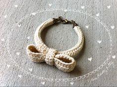 Crochet Bow Bracelet