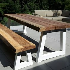 Outdoor Furniture, Outdoor Decor, Dining Bench, Home Decor, Dining Room Bench, Decoration Home, Room Decor, Interior Decorating, Outdoor Furniture Sets