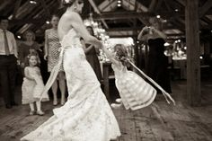 Dancing with the Flower girls .Photography by Dave Robbins Photography / daverobbinsphotography.com