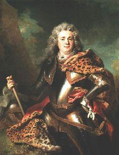 1714 Portrait of François de Gontaut, Duke of Biron by Nicholas de Largilliere