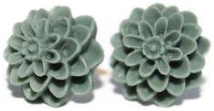 Earring grey      Die Blüten gibt es auch noch in anderen Farben. Wenn ihr einen anderen Farbwun