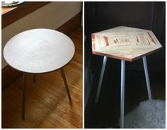 Ugly Tripod Table redo // Side table before and after // diy // diy table upgrade // Young Branch