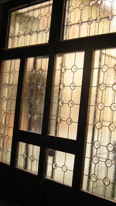 vetrata rilegata a piombo con rulli soffiati