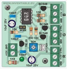 - Controlador RGB para leds de alta potencia Electronic Kits, Electronic Schematics, Hobby Electronics, Electronics Projects, Artificial Intelligence Computer, Pic Microcontroller, Electrical Circuit Diagram, Electrical Installation, Led Diy