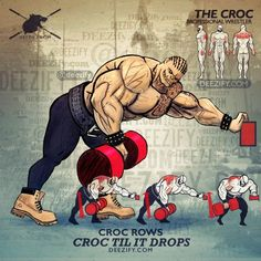 back exercise - croc rows