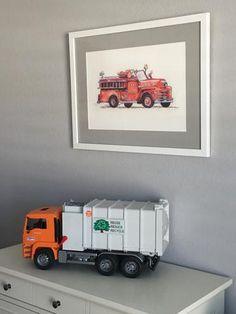 Construction Truck Boy's Room Inspiration – little splashes of color