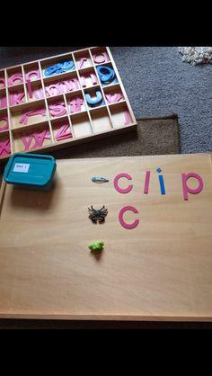 The movable alphabet Montessori Activities, Activities For Kids, Alphabet, Meet, Alpha Bet, Kid Activities, Kid Crafts, Infant Activities, Childcare Activities