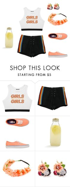 """""""Missing Summer"""" by rebellious-ingenue ❤ liked on Polyvore featuring Minga, Retrò, Vans and Bormioli Rocco"""
