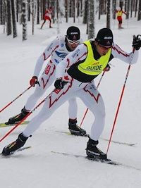Skiing for People Who Are Blind or Visually Impaired – Page 1235 Adaptive Sports, Through Time And Space, Vacation Home Rentals, Holiday Travel, Kayaking, Motorcycle Jacket, Skiing, Blinds, Athlete