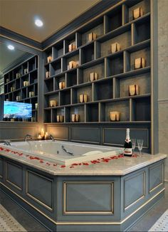 Tv In Bathroom Ideas Fresh Marvelous Coral Candle Holder Mode New York Traditional Bathroom Innovative Designs with Traditional Bathroom Designs, Small Bathroom, Bathrooms Remodel, House, House And Home Magazine, Romantic Bathrooms, Tv In Bathroom, Kitchen Design, Traditional Bathroom