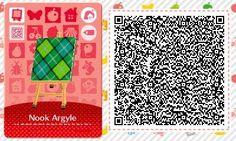 ACNL/ACHHD QR CODE-Green Plaid Fabric