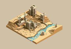 City (with contour rocks)