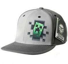 Creeper Diamond Steve Overworld Vanilla Underground Minecraft Boys//Youth Hats Baseball Snapback Caps