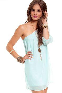 One Hit One-der Dress in Minty Blue $32 at www.tobi.com @Monica Ringer