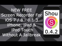 NEW Shou FREE Screen Recorder For iOS 7 / 8 - 8.1.3 NO Jailbreak iPhone, iPad & iPod Touch - http://showatchall.com/craft/new-shou-free-screen-recorder-for-ios-7-8-8-1-3-no-jailbreak-iphone-ipad-ipod-touch/