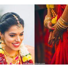Brahmin wedding in Hydrebad .. Beautiful bride in red saree