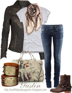 """""""biker boots"""" by stacy-gustin ❤ liked on Polyvore"""