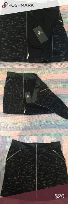 Rock&Republic Skirt Beautiful edgy Rock & Republic zip up pencil skirt. Brand new with tags Rock & Republic Skirts Pencil