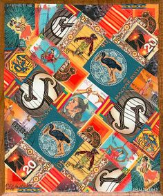 postage stamp collage art - Google Search