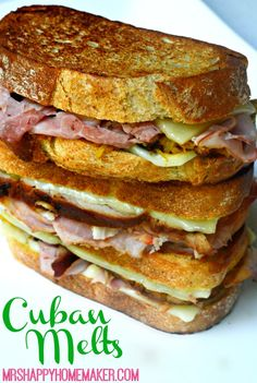 Cuban Sandwiches are a new fascination of mine. I didn't have one up until a couple months ago, and instantly I fell in love with the flavors. I'd been making a traditional Cuban sandwich for a while Kubanisches Sandwich, Panini Sandwiches, Grilled Sandwich, Soup And Sandwich, Wrap Sandwiches, Cubano Sandwich, Sandwiches For Dinner, Monte Cristo Sandwich, Appetizer Sandwiches