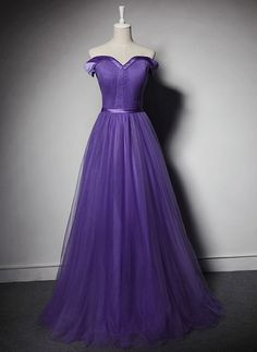 Hot Sell Sexy Off Shoulder Prom Dress,Purple Pleated Formal Evening Dresses Long Party Dress,Floor Length Prom Gown,Prom Dresses UK6798