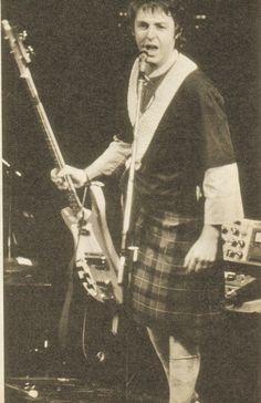 Paul McCartney...IN A KILT!!!