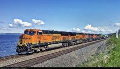RailPictures.Net Photo: BNSF 6340 Burlington Northern Santa Fe GE ES44DC at Edmonds, Washington by Andrew Kim