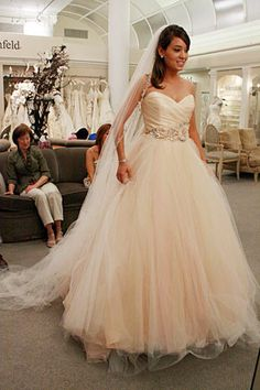 Beautiful blush wedding dress as seen on Say Yes to the Dress ...
