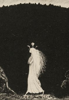 a dream, maybe, of being raised by trolls..  John Bauer (1882-1918)